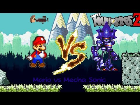 Mario Vs Mecha Sonic (SMBZ Game)