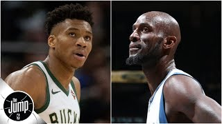 Who'd you rather have in their prime: Giannis or Kevin Garnett? | The Jump