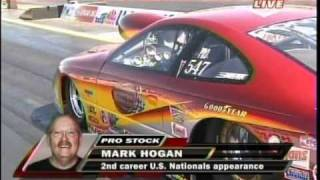 Erica Enders Mark Hogan Pro Stock Rd4 Qualifying Indy Mac Tools US Nationals 2010.mpg