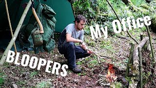 My Pop-up OFFICE in the Forest + BLOOPERS