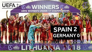 WU17 final highlights: Germany v Spain