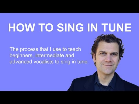 How to Sing in Tune - Quick Tip