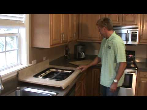 kitchen countertop cutting board inlay with cutlery storage - youtube