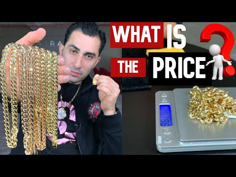 PRICING MIAMI CUBAN CHAINS In 10K 14k 18k AT TODAY'S GOLD PRICE