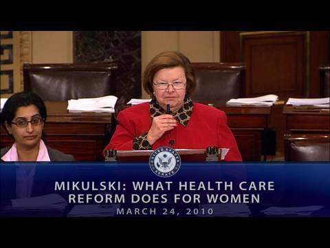 Mikulski: What Health Care Reform Does for Women