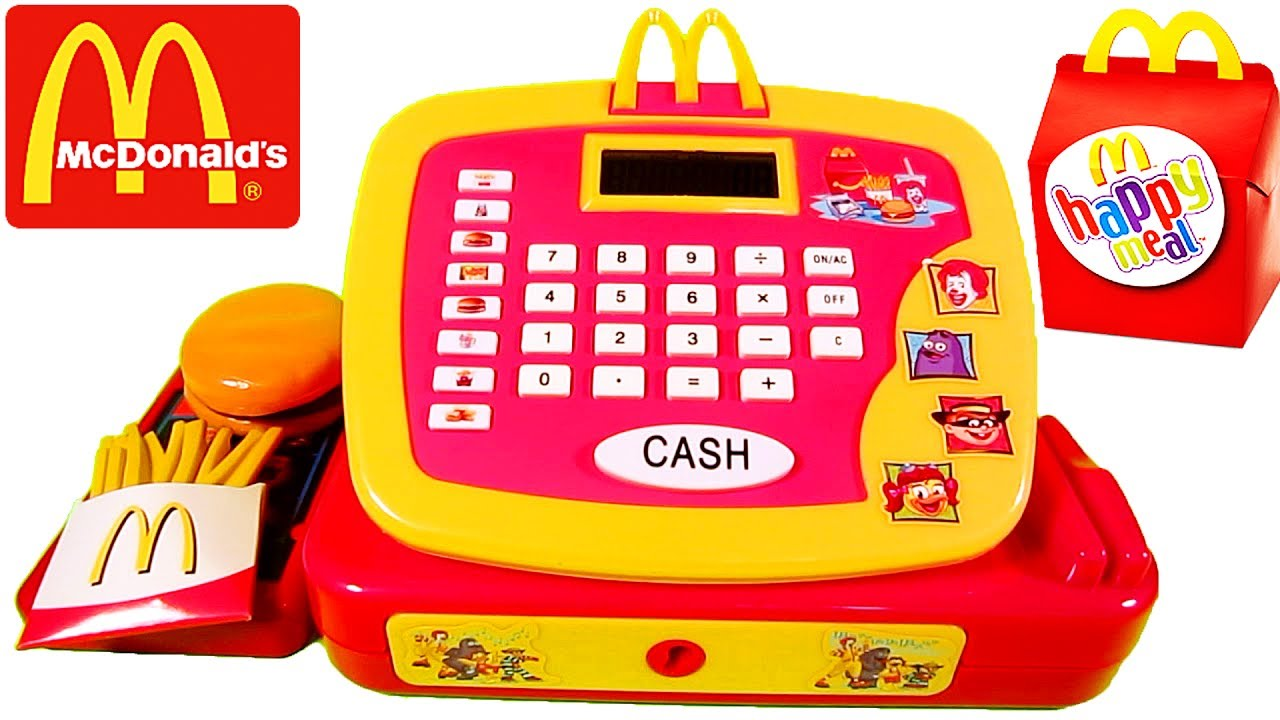 Mcdonalds Toy Cash Register Pretend Play Set For Children Youtube