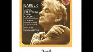 Leonard Bernstein Samuel Barber Adagio For Strings Op 11 Molto Adagio