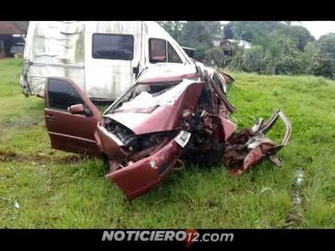 Panambí: accidente fatal en la ruta 5, 4 muertos y 6 heridos
