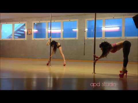 Beginner level pole dance routine by Aryanna