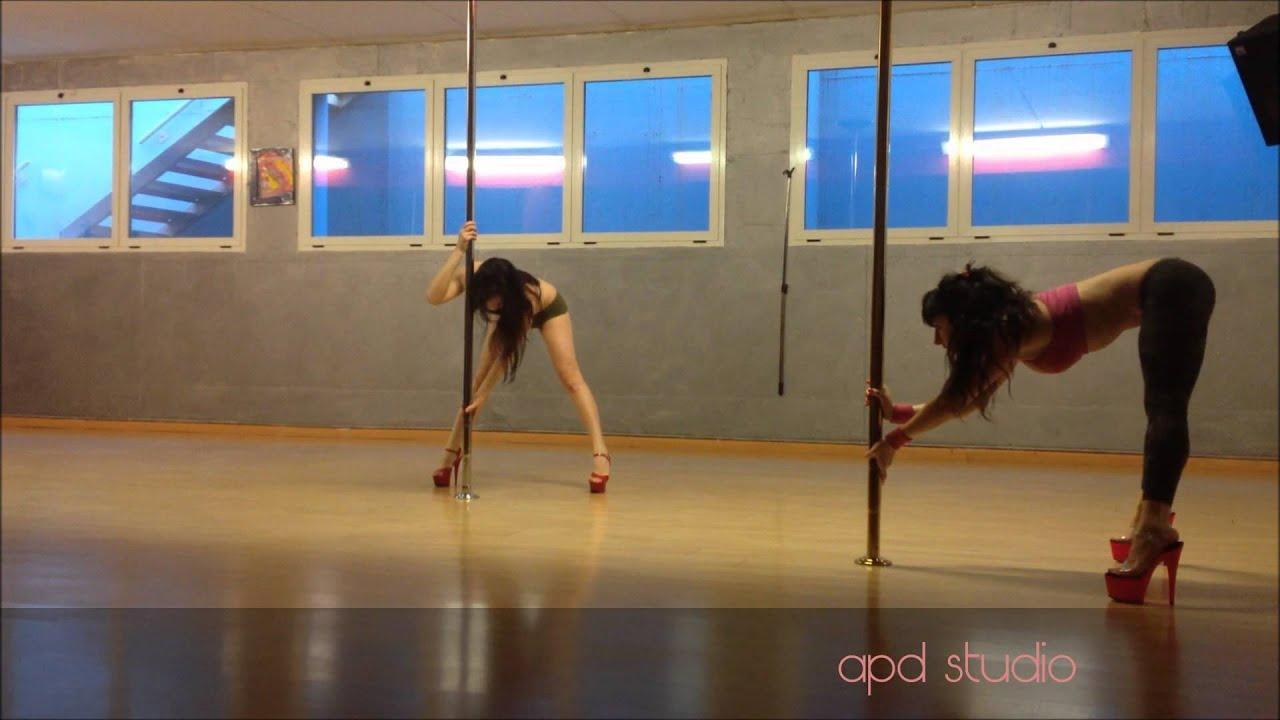 Beginner level pole dance routine by Aryanna - YouTube