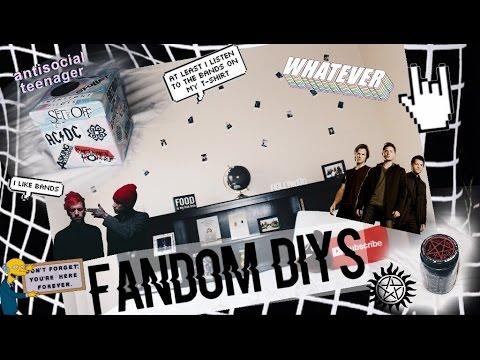 Diy fandom room decor life hacks youtube for Room decor life hacks