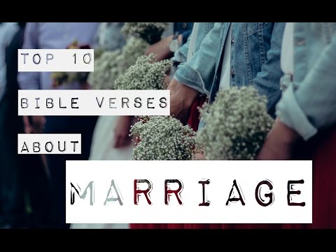 10 Bible Verses About Marriage