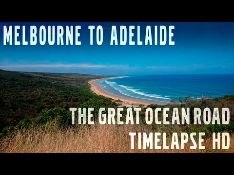 Melbourne to Adelaide in 50 minutes along the Great Ocean Road Time-lapse HD