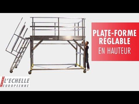 plateforme r glable en hauteur youtube. Black Bedroom Furniture Sets. Home Design Ideas