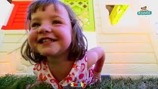 Dětský domeček Přátel Smoby s předzahrádkou a UV f