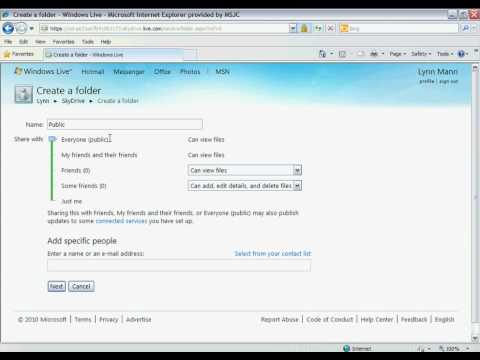 Windows Live & SkyDrive Tutorial