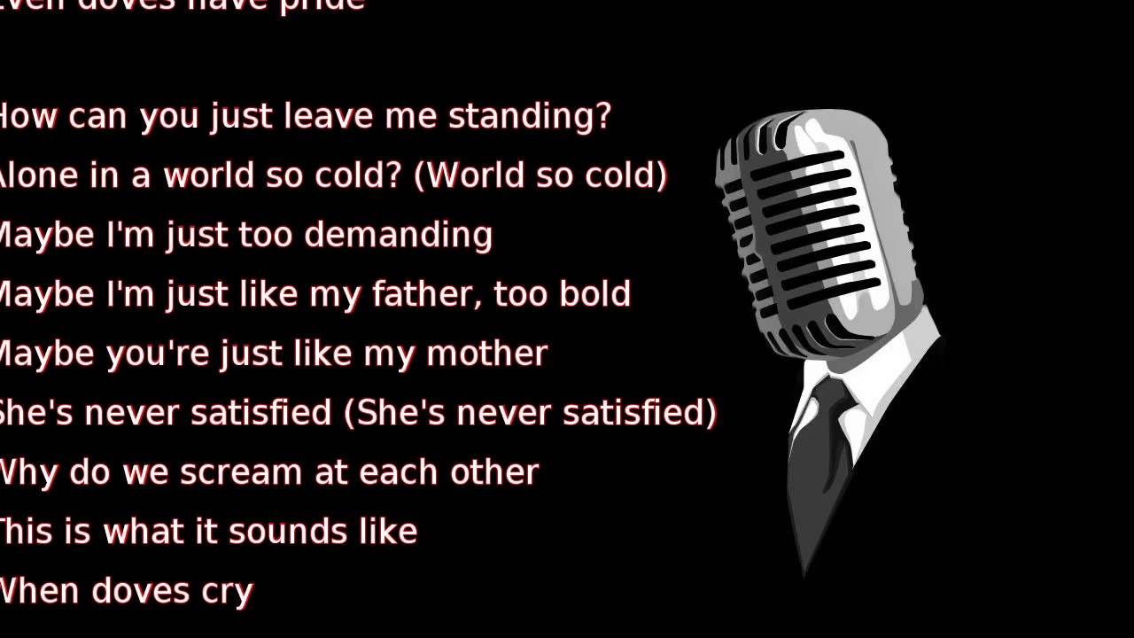 PRINCE - WHEN DOVES CRY LYRICS - SONGLYRICS.com