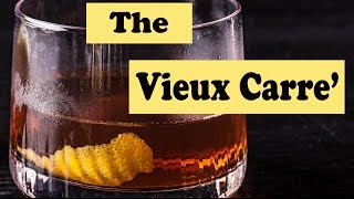 Vieux Carre Classic New Orleans Cocktail - Whiskey Cognac Brandy - Vermouth How To Recipe