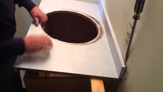 Master bath remodel. Removing the sink cabinet from wall