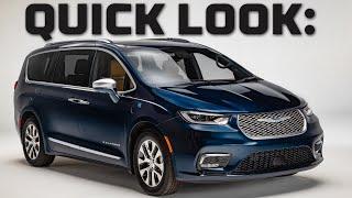 Quick Look at a Minivan! | 2021 NEW Chrysler Pacifica Walkthrough | MotorTrend