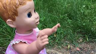 Funny baby plays with dolls, pretend play for kids, Funny Sophie