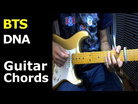 HOW TO PLAY - BTS - DNA - Guitar Lesson/Chords - YouTube