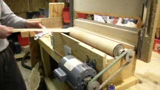 "36"" long benchtop drum sander, 1/2 HP."