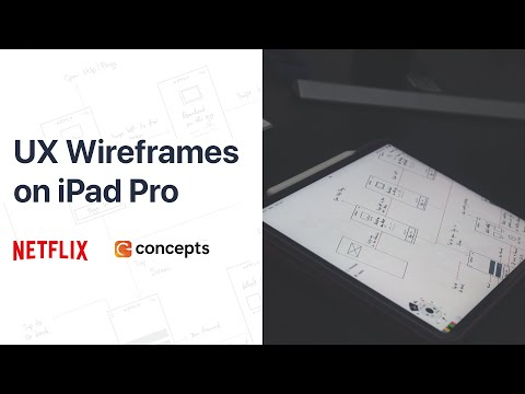IPad Pro - UX And Product Design Wireframes For Netflix