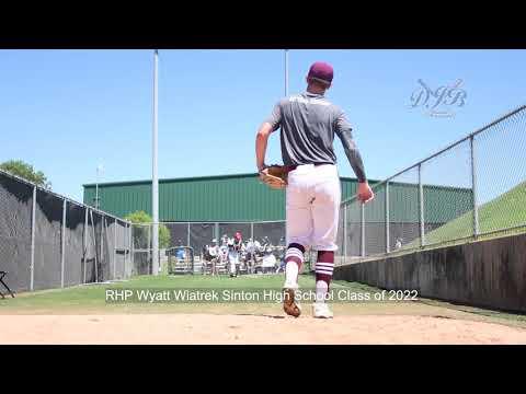 RHP Wyatt Wiatrek Sinton High School Class of 2022