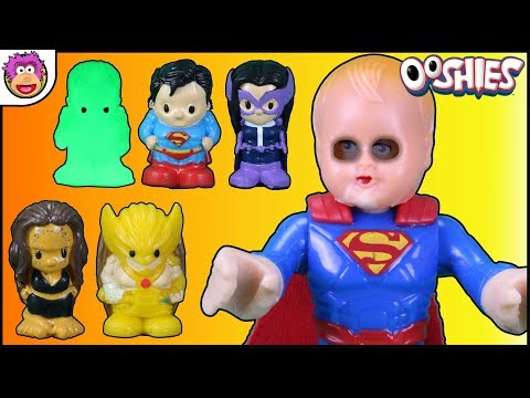 DC Comics Ooshies Series 3 7 Pack Opening ! Halloween !! Robin and Spiderman go Trick or Treating !!