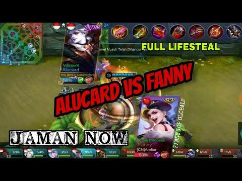 ALUCARD VS FANNY - TOP GLOBAL? LIFESTEAL 210% (MOBILE LEGENDS)
