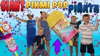 GIANT Piñata Full of Pikmi Pop Season 2 Candy & Surprise Toys!
