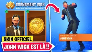 official.. THE SKIN JOHN WICK and HIS FREE DEFIES ARE on FORTNITE!!