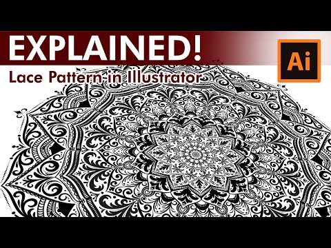 Lace Pattern Tutorial - How to draw a Lace Pattern in Adobe