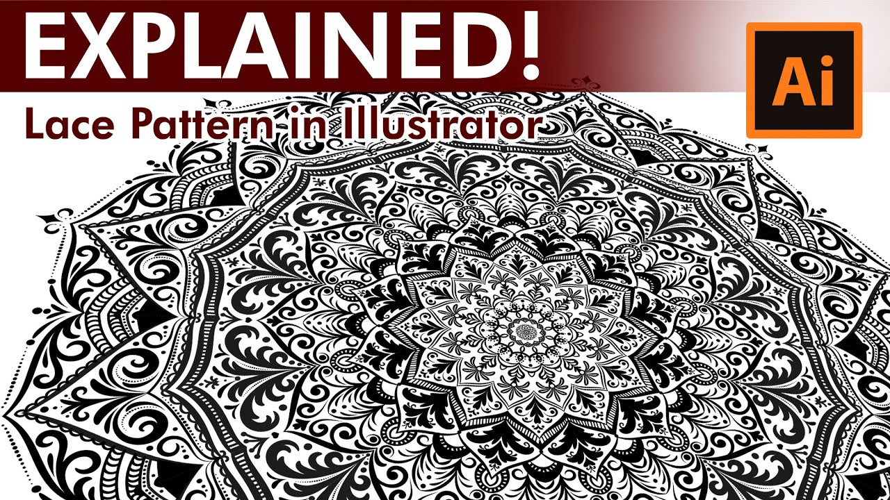 Lace Pattern Tutorial - How to draw a Lace Pattern in ...