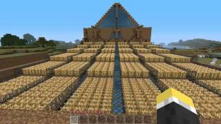 Minecraft: Giant Automatic Wheat Farm with Redstone Switch