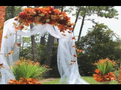 Fall Wedding Arch Decoration Ideas - YouTube