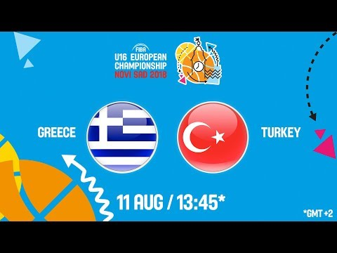 LIVE 🔴 – Greece v Turkey – FIBA U16 European Championship 2018