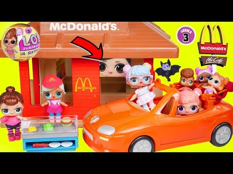 LOL Surprise! Dolls Babysits School Lil Sisters Christmas Advent McDonalds Fake Playmobil Swirl!