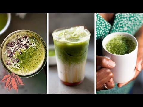 BEST MATCHA LATTE | 4 vegan matcha drink recipes