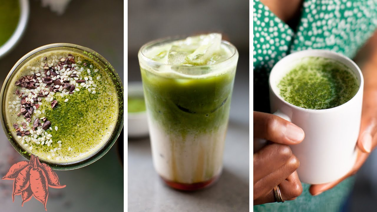 BEST MATCHA LATTE | 4 vegan matcha drink recipes