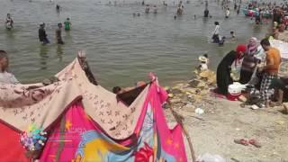فيديو| إقبال المواطنين على المتنزهات وحمامات السباحة بالفيوم