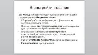видео оценка вероятности банкротства предприятия