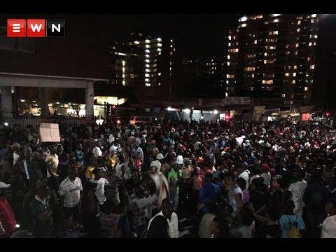 Zimbabweans in down town Jozi celebrating Mugabe's resignation