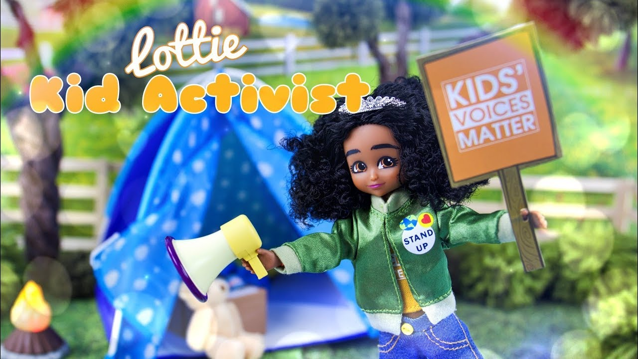 Unbox Daily Lottie Kid Activist Doll PLUS Campfire Fun Play Set