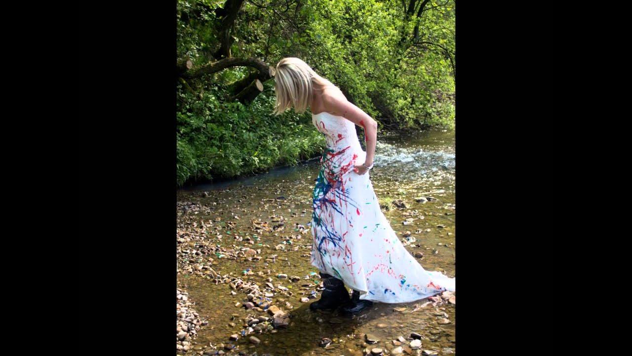Trash Wedding Dress take three - YouTube