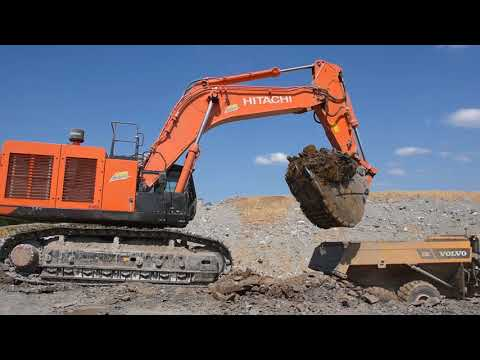 Hitachi ZX690 loading Volvo A30G - Part 1