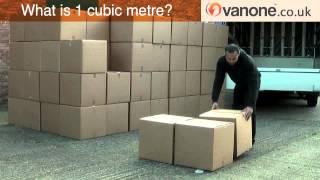 what is 1 cubic metres of goods for removal