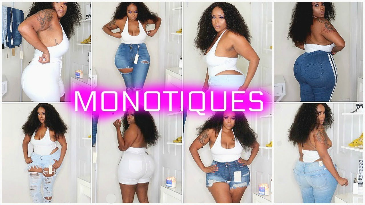 c88aea9e293 LIT AF Curvy Thick Girl Try-on Haul JEANS ONLY XL-3XL
