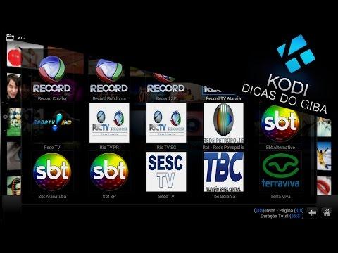 XBMC ou KODI - TV AO VIVO BRASIL